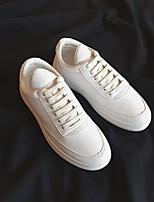 baratos -Homens sapatos Courino Primavera Outono Conforto Tênis para Casual Branco Preto Vermelho