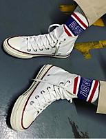 Недорогие -Муж. обувь Полотно Весна Осень Удобная обувь Кеды для Повседневные Белый Черный Желтый