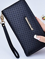 cheap -Women's Bags PU Wallet Zipper for Casual All Seasons Black