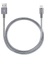 Недорогие -Подсветка Адаптер USB-кабеля Компактность Быстрая зарядка Назначение iPhone 100 cm Нейлон