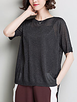 cheap -Women's Polyester T-shirt - Solid