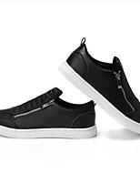abordables -Homme Chaussures Cuir Eté Confort Basket pour Décontracté Blanc Noir