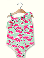 cheap -Girls' Cute Active Animal Print Swimwear, Rayon Modal Sleeveless Light Green