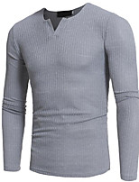 cheap -Men's Pullover - Solid Color Round Neck