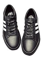 Недорогие -Муж. обувь Полиуретан Зима Осень Удобная обувь Кеды для Повседневные Черный