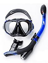 abordables -Masque de Nage Tubas Paquets de plongée Anti buée Explosion-Proof Plongée Silicone PC (polycarbonate) - TUO