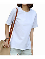 cheap -Women's Street chic Butterfly Sleeve T-shirt - Solid Colored, Bow