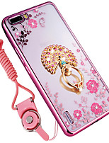 cheap -Case For Huawei Honor 6C Pro Shockproof Rhinestone with Stand Back Cover Flower Soft Silicone for Huawei Honor 6 Plus