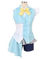 abordables -Inspiré par Macross Frontier Cosplay Manga Costumes de Cosplay Costumes Cosplay Autre Manches Courtes Cache-col Chemise Haut Jupe