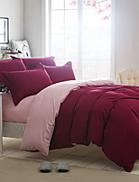 cheap -Duvet Cover Sets Solid 3 Piece Polyster Yarn Dyed Polyster 1pc Duvet Cover 1pc Sham 1pc Flat Sheet