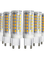 cheap -YWXLIGHT® 6pcs 9W 750-850 lm G9 LED Bi-pin Lights T 76 leds SMD 2835 Dimmable Warm White Cold White Natural White AC 220-240V