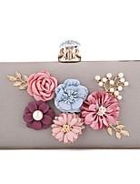 preiswerte -Damen Taschen PU Abendtasche Kristall Verzierung Blume für Hochzeit Veranstaltung / Fest Ganzjährig Weiß Rote Grau
