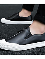 Недорогие -Муж. обувь Полиуретан Весна Осень Удобная обувь Мокасины и Свитер для Повседневные Белый Черный Серый