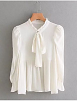 cheap -Women's Polyester Shirt - Solid