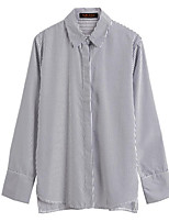 preiswerte -Damen Gestreift Hemd, Hemdkragen