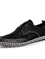 cheap -Men's Shoes Cowhide Spring Summer Comfort Sneakers for Casual Black Gray Green