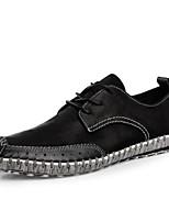 Недорогие -Муж. обувь Кожа Весна Лето Удобная обувь Кеды для Повседневные Черный Серый Зеленый