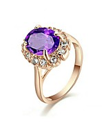 cheap -Women's Band Ring Purple Blue Gold Plated Elegant Party Birthday Daily Costume Jewelry