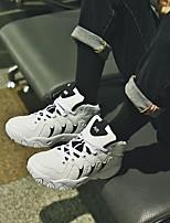 baratos -Homens sapatos Courino Inverno Outono Conforto Tênis para Casual Preto Vermelho Branco/Preto