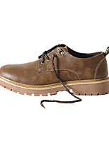 cheap -Men's Shoes Pigskin Spring Fall Combat Boots Comfort Boots Booties/Ankle Boots for Casual Light Brown Dark Brown Khaki