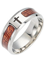 cheap -Men's Band Ring Brown Stainless Cross Fashion Daily Costume Jewelry