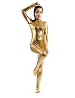 preiswerte -Zentai Anzüge Ninja Zentai Kostüme Cosplay Kostüme Golden Solide Zentai Kostüme Elasthan Kleben Herrn Damen Halloween Maskerade
