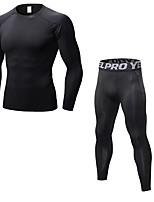 economico -Per uomo Activewear Set Manica lunga / Pantalone lungo Traspirabilità Set di vestiti per Jogging Poliestere Blu / Rosso / Bianco / Grigio