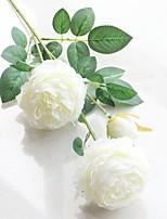 abordables -Fleurs artificielles 2 Une succursale style pastoral / Style européen Pivoines Fleur de Table
