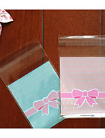 cheap -Rectangular Plastic Favor Holder with Pattern / Print Favor Bags - 1set