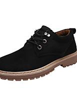 abordables -Homme Chaussures Similicuir Printemps Automne Confort Basket pour Décontracté Noir Jaune Kaki