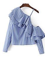 cheap -Women's Shirt - Striped One Shoulder