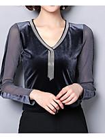 abordables -Tee-shirt Femme Mignon Basique Col en V