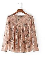 cheap -Women's Basic Puff Sleeve Blouse - Geometric, Print