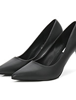 cheap -Women's Shoes PU Spring Fall Basic Pump Heels Stiletto Heel Pointed Toe for Party & Evening Black