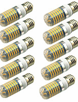 preiswerte -10 Stück 5W 600lm E14 G9 GU10 E26 / E27 E12 LED Mais-Birnen T 128 LED-Perlen SMD 2835 Dekorativ Warmes Weiß Kühles Weiß 220-240V