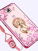 cheap -Case For Huawei Enjoy 5A Shockproof Rhinestone with Stand Back Cover Flower Soft Silicone for Huawei Enjoy 5