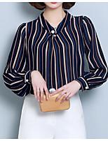 baratos -Mulheres Blusa Negócio Básico Listrado