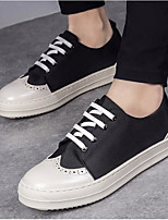 cheap -Men's Shoes Leather Spring Fall Comfort Sneakers for Casual Black