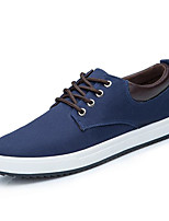 cheap -Men's Shoes Canvas Spring Fall Comfort Sneakers for Casual Black Gray Blue