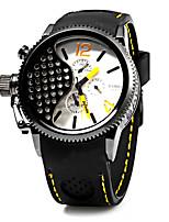 baratos -Homens Quartzo Relógio de Moda Relógio Casual Japanês Calendário Mostrador Grande Relógio Casual Silicone Banda Luxo Legal Preta