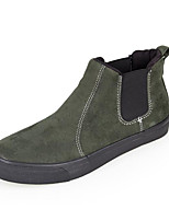 cheap -Men's Shoes Nubuck leather Winter Fall Bootie Comfort Boots Booties/Ankle Boots for Casual Black Gray Army Green