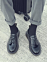 baratos -Homens sapatos Pele Inverno Outono Conforto Tênis para Casual Preto