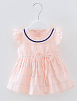 cheap -Girl's Daily Solid Colored Dress Summer Simple Blushing Pink