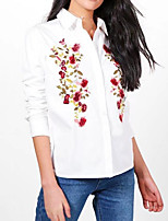 cheap -Women's Active Cotton Shirt - Floral, Print Shirt Collar