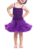 cheap -Girl's Daily Solid Colored Dress, Polyester Spring Sleeveless Cute Active Purple