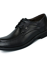 cheap -Men's Shoes Nappa Leather Spring Fall Comfort Oxfords for Outdoor Black