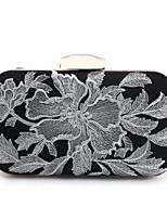 cheap -Women's Bags Polyester Evening Bag Embroidery Flower for Wedding Event/Party All Seasons Gold Silver