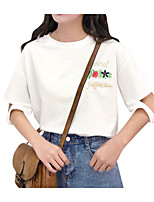 cheap -Women's Cute Cotton T-shirt - Print