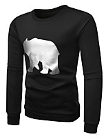 abordables -Homme Basique Sweatshirt Activewear Set Couleur Pleine