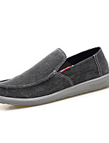 cheap -Men's Shoes Canvas Spring Summer Moccasin Loafers & Slip-Ons for Casual Black Gray Royal Blue